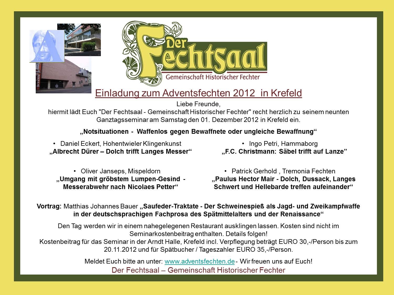 Einladung Adventsfechtenfechten 2012