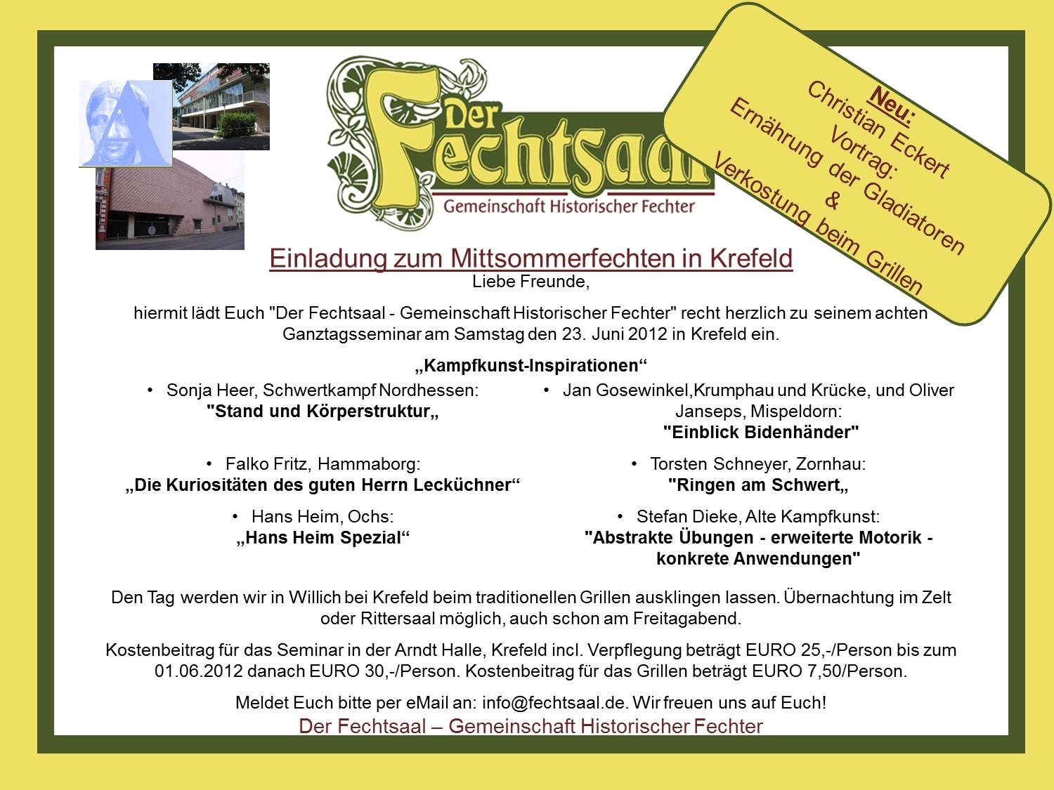Invitation Mittsommerfechten 2012