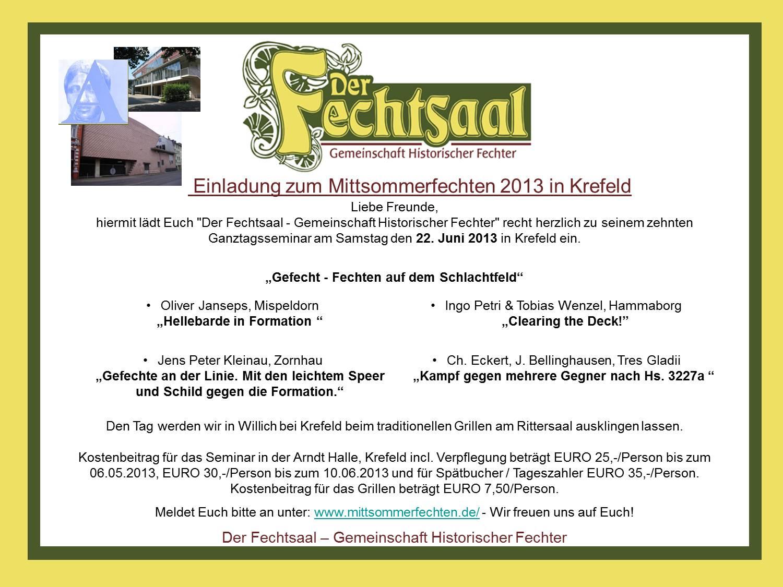Einladung Mittsommerfechten 2013